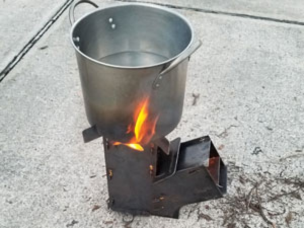 Flat Pack Rocket Stove